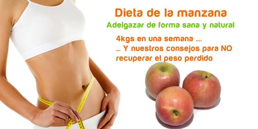 Dieta de la manzana para adelgazar de forma natural