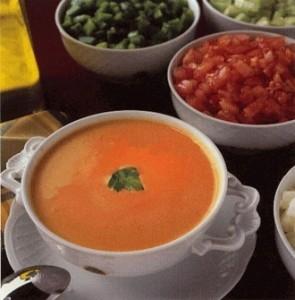 Ingredientes para la receta de gazpacho