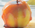 Manzana con salsa de toffee