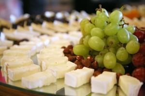 brocheta uvas y queso