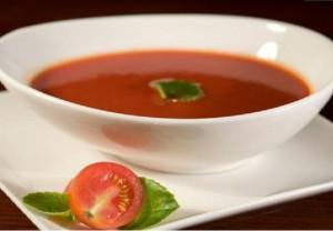 Sopa de melon y tomate