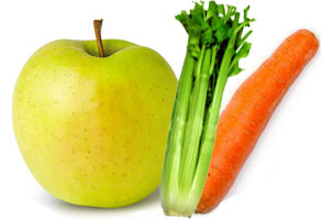 Zumo de la vida (Manzana, zanahoria y apio)