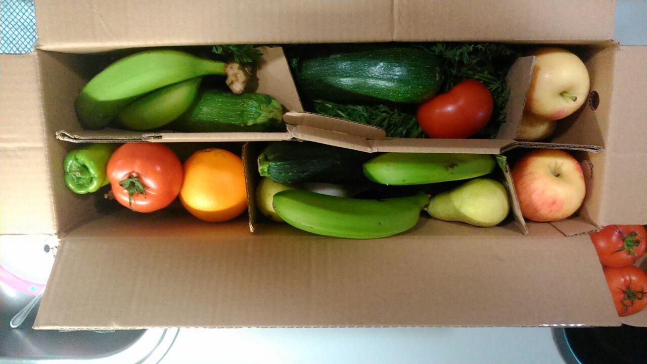 caja fruta y verduras
