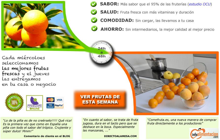 comprar fruta con sabor sin intermediarios