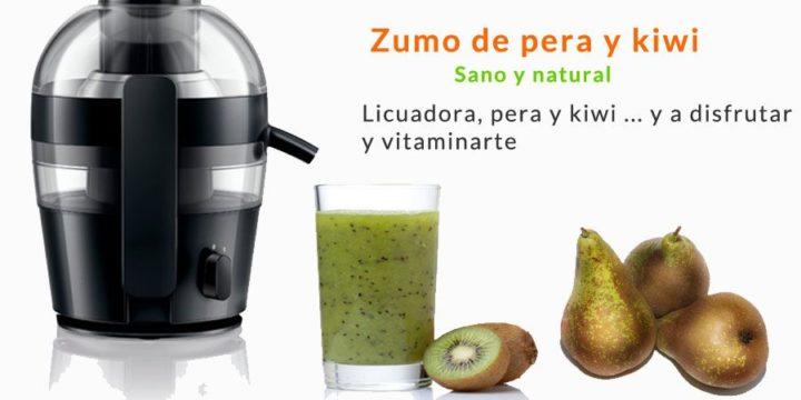 zumo de pera y kiwi