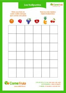 frutipuntos. cómo hacer que coman fruta