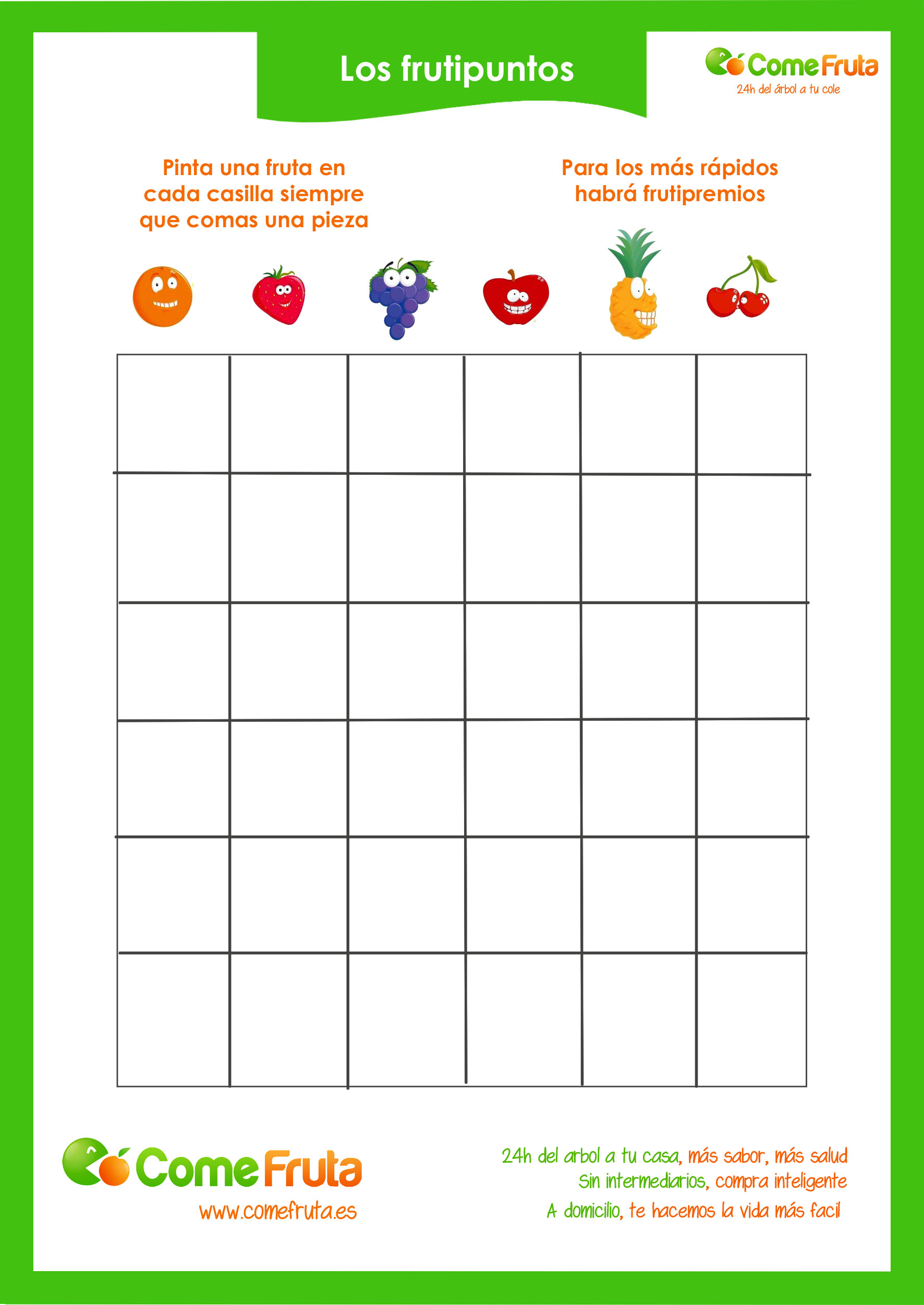 juego para que los nios coman fruta los frutipuntos descargarte nuestra cartilla de frutipuntos