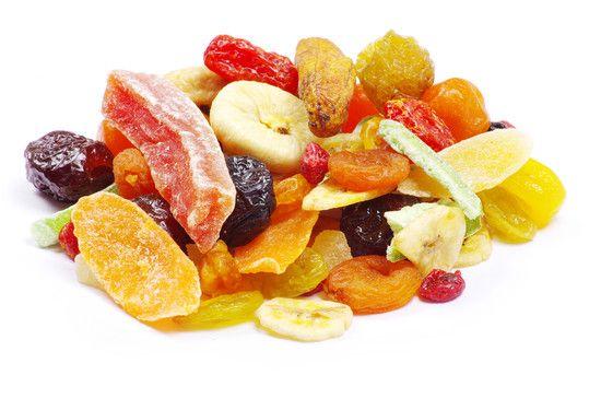 fruta deshidratada variada