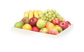 Bandeja fruta en equipo