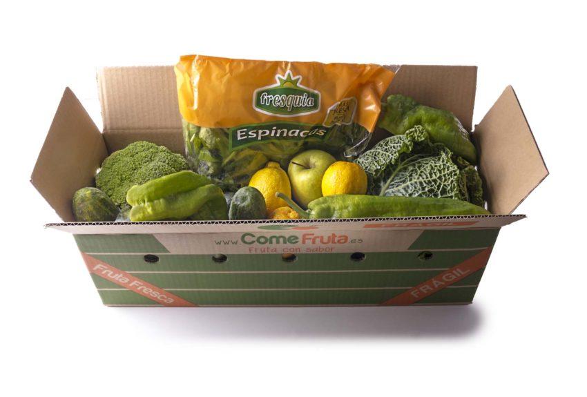 caja smoothie verde