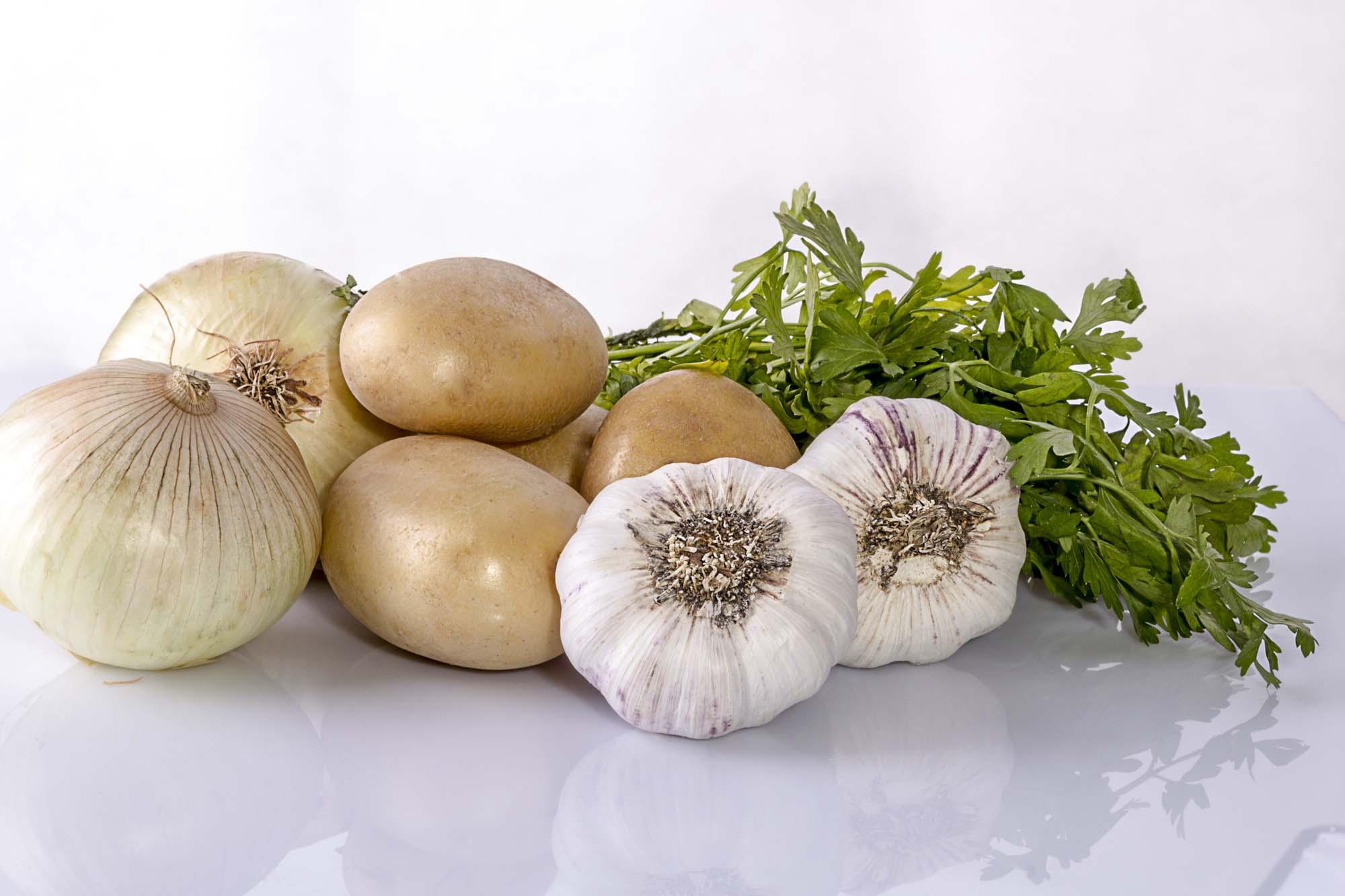 mix patata cebolla ajo