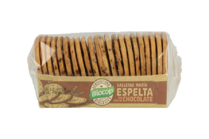 Galleta bio espelta chocolate
