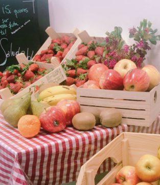 Mercadillo de frutas de temporada