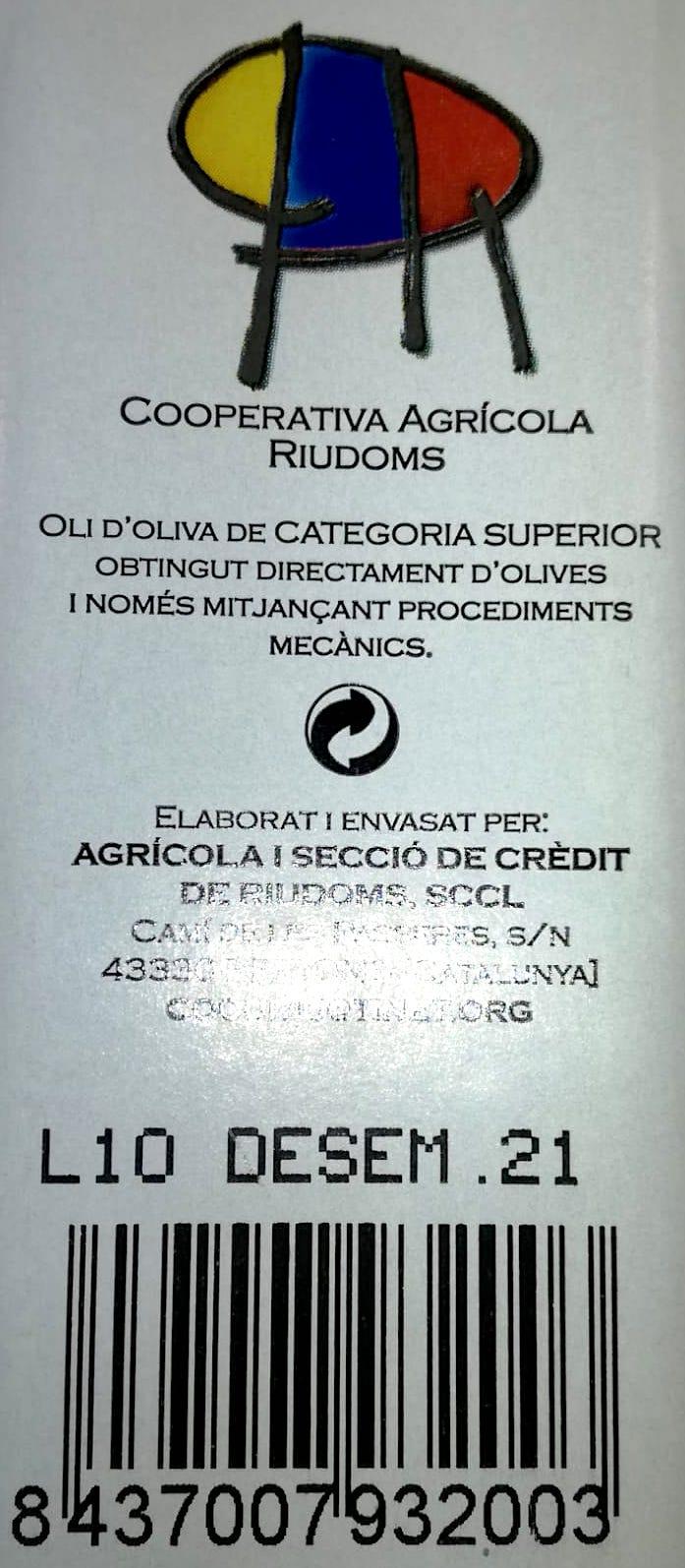 etiqueta aceite oliva