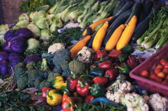 Fruta y verdura. Alimentación y vida saludable