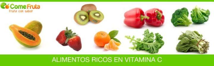 Alimentos con vitamina c (frutas y verduras)