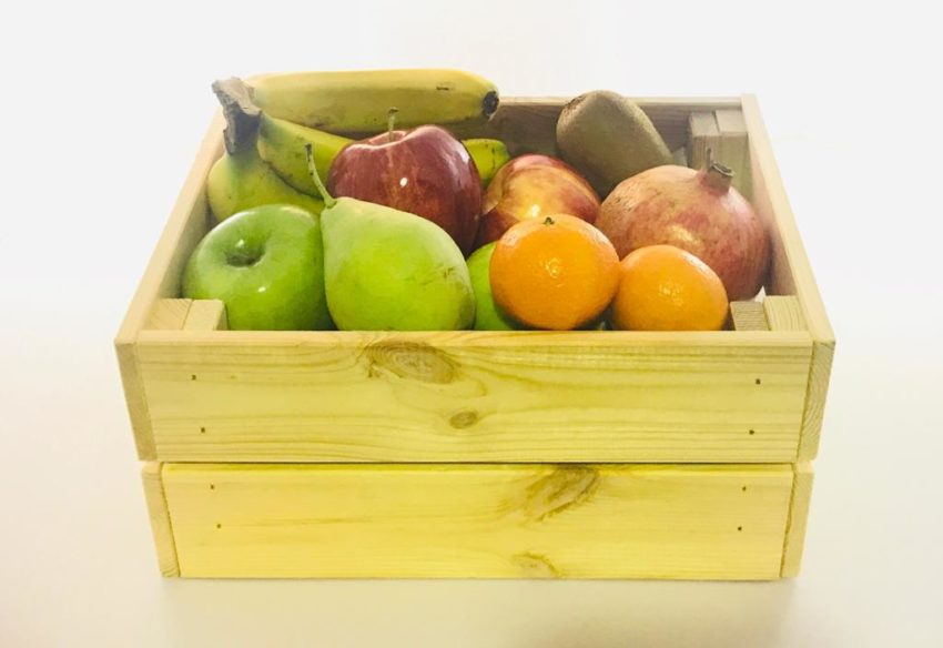 caja regalar fruta saludable