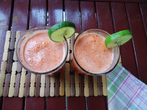 zumo de zanahoria manzana