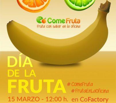 cartel fruta en el coworking