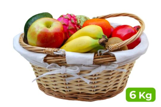 Regalar fruta a domicilio en cesta de 6 Kg