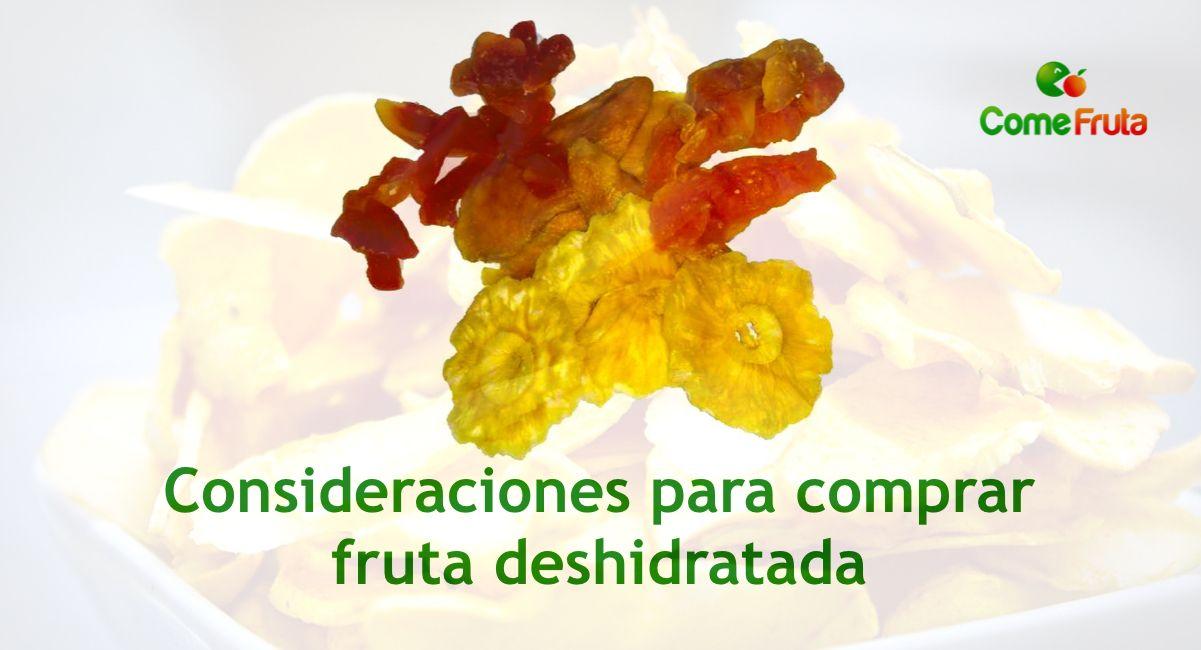 consejos para comprar fruta deshidratada
