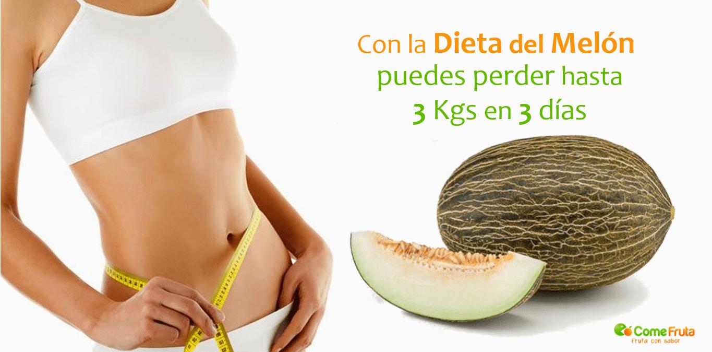 dieta del melón comefruta