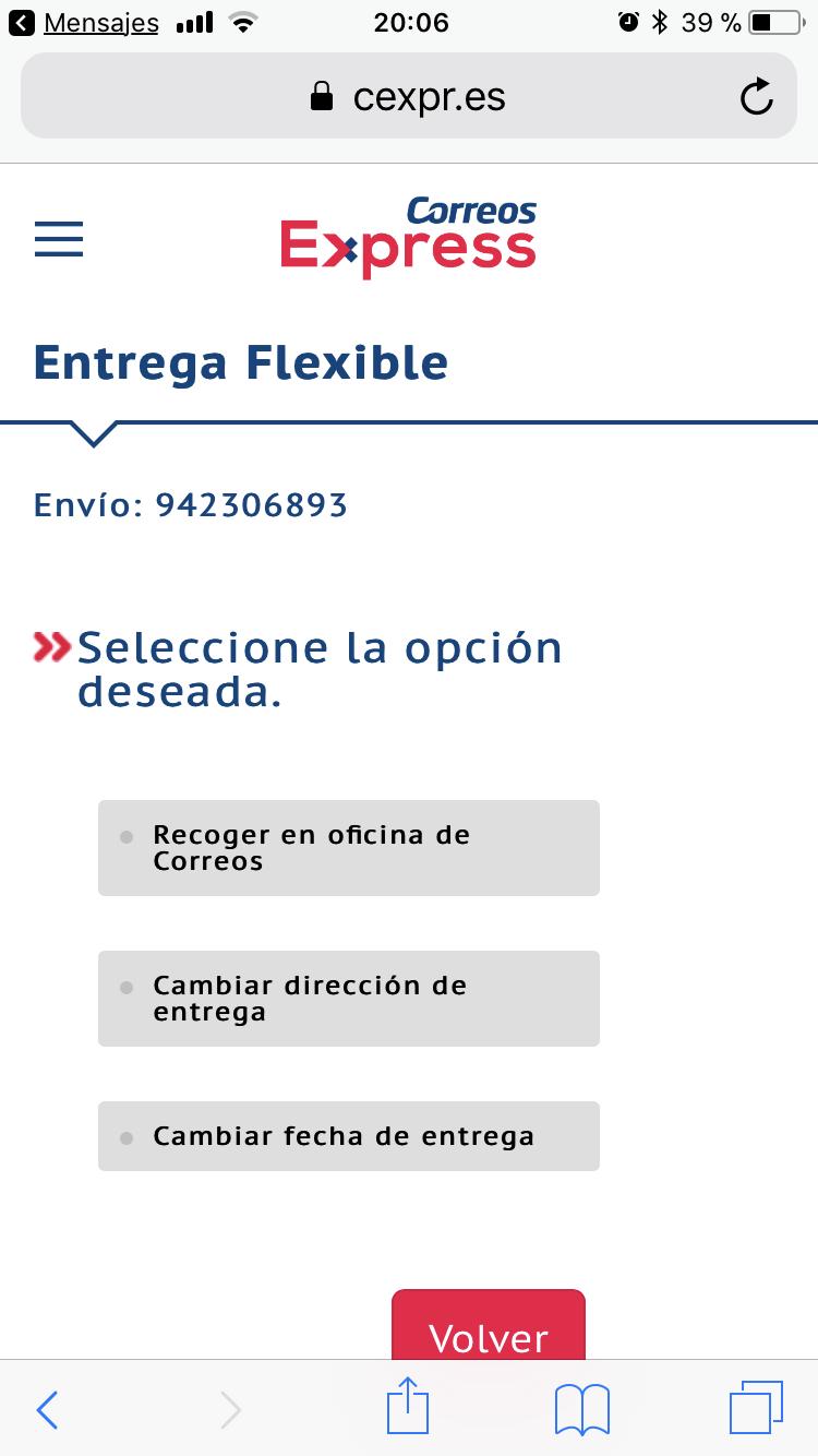 entrega flexible cambios