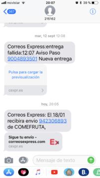 entrega flexible correos express sms
