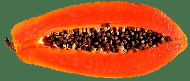 papaya, Frutas y verduras para deportistas