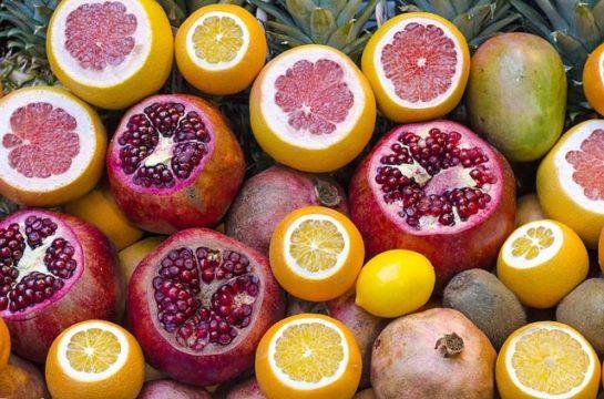 Cítricos. Frutas y verduras para deportistas