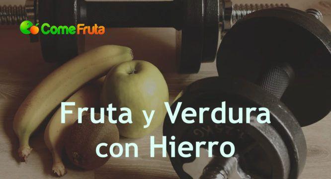 verdura y fruta con hierro