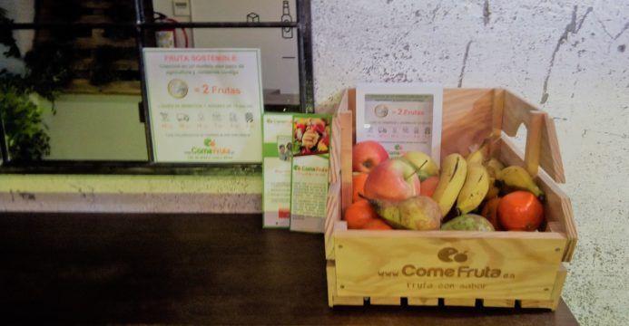 fruta sostenible en coworking