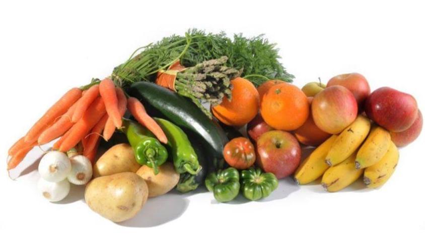 fruta y verdura fresca variada