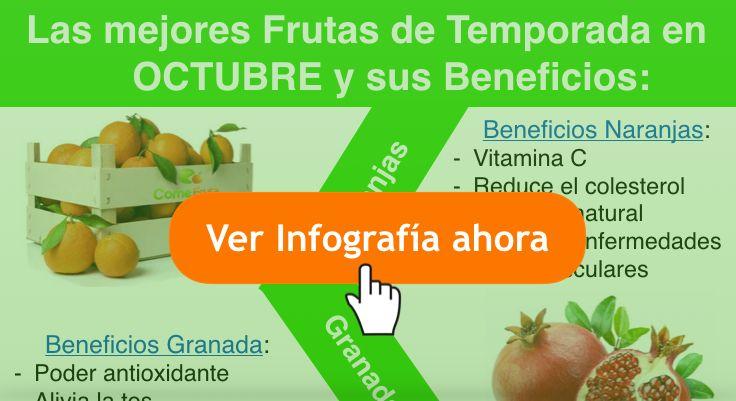 frutas temporada Octubre. infografía