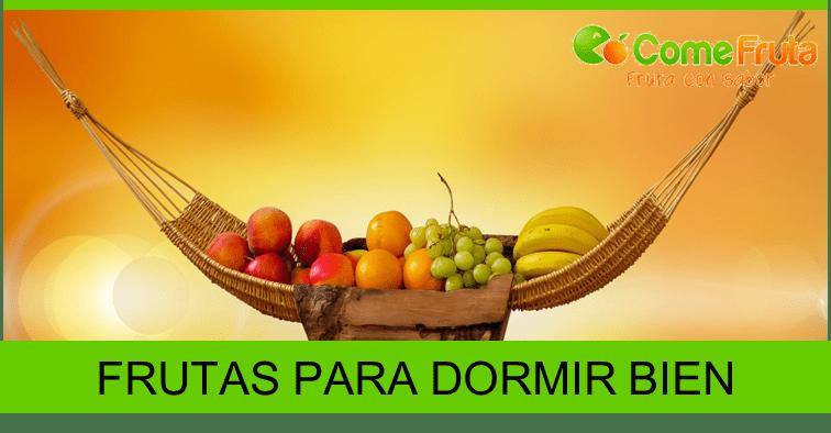 Frutas y verduras para dormir bien