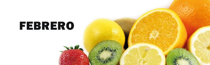 frutas de temporada de febrero