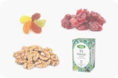 Frutos secos, dulces y tés