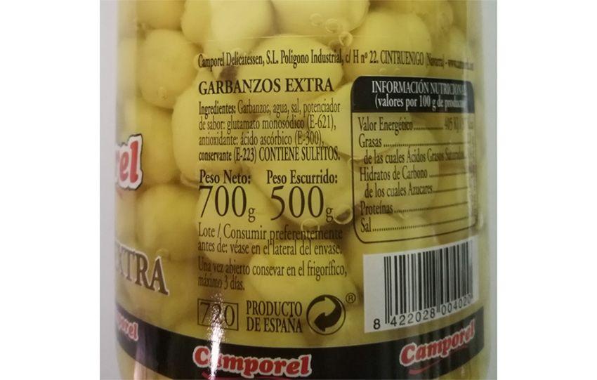 Info Garbanzos