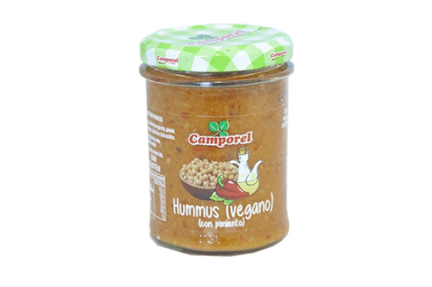 pate hummus con pimiento