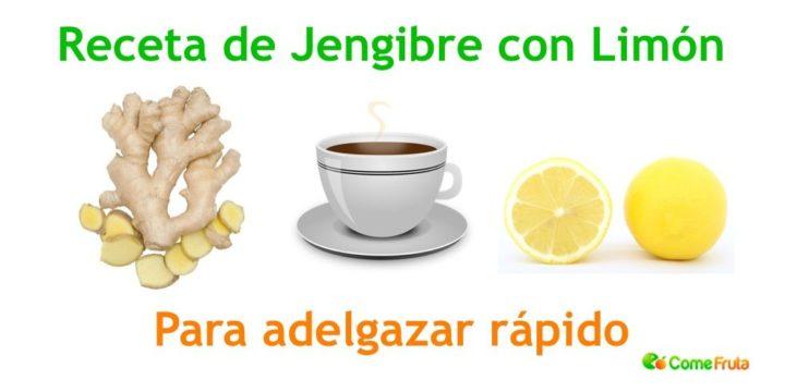 jengibre y limón para adelgazar