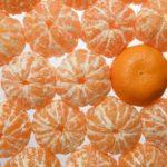 mandarina fruta de temporada de abril