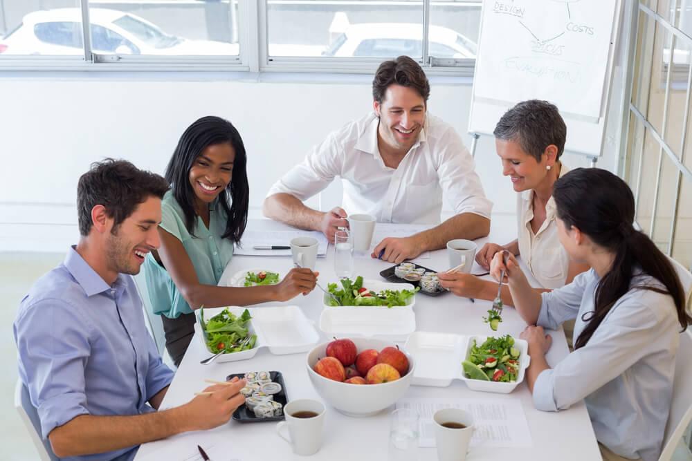comer en la oficina saludable