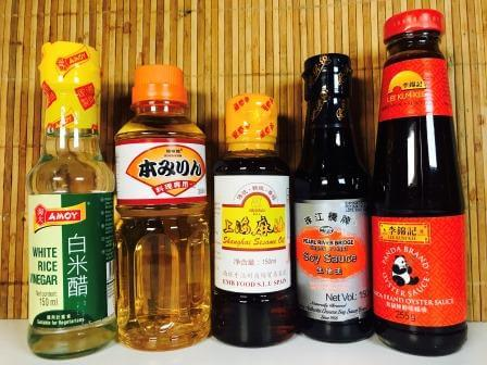Pack de 5 salsas para cocinar recetas asiáticas