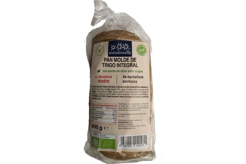 Pan de molde trigo integral