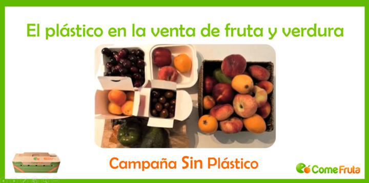 plástico alimentación. campaña sin plástico comefruta