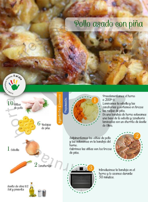 pollo asado con piña de temporada