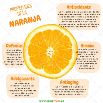 Infografia Propiedades de la naranja