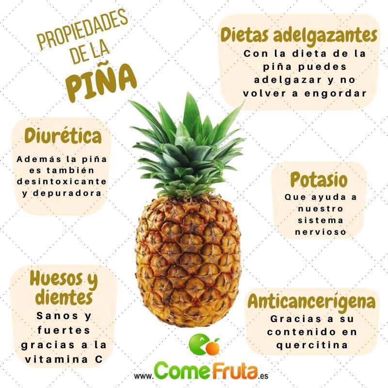 Propiedades Saludables De La Piña Comefruta