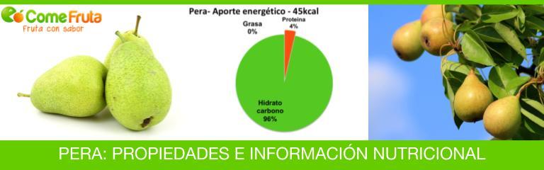 Propiedades de la pera e información nutricional