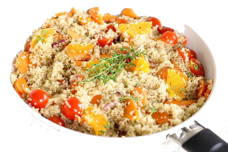 recetas con quinoa. con tomates cherry